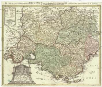 Praefectura generalis & comitatus Provinciae una cum terris adjacentibus in suas dioeceses & praeturas subdivisus