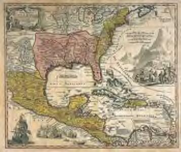 Regni Mexicani seu Novæ Hispaniæ, Ludovicianæ, N. Angliæ, Carolinæ, Virginiæ, et Pensylvaniæ, nec non insvlarvm archipelagi Mexicani in America septentrionali accurata tabula