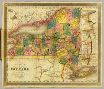 State of New York by D.H. Burr.