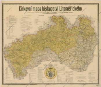 Církevní mapa biskupství Litoměřického