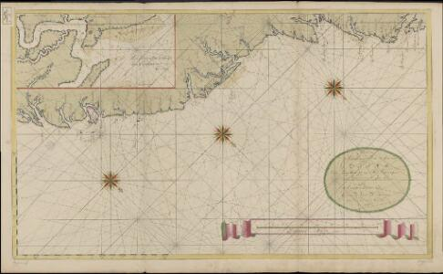 Nieuwe afteekening van de kust van Guiana van Caap Oranje tot Rio Oronoque als mede Suriname int groot