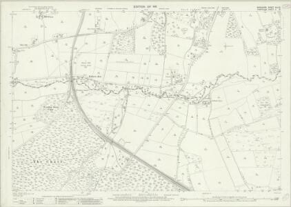 Berkshire XLII.12 (includes: East Woodhay; Enborne; Greenham; Highclere; Newbury) - 25 Inch Map