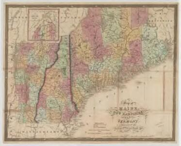 Map of Maine, New Hampshire, and Vermont : compiled from the latest authorities