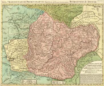 Nova Transilvaniae Principatus Tabula, ad Usum Serenissimi Burgundiae Ducis