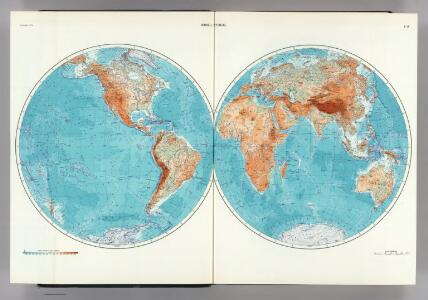 1-2.  World, Physical.  The World Atlas.