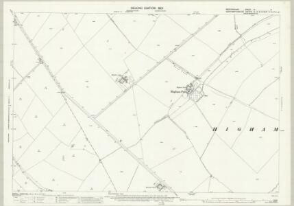 Bedfordshire IV.9 (includes: Newton Bromswold; Rushden; Wymington) - 25 Inch Map