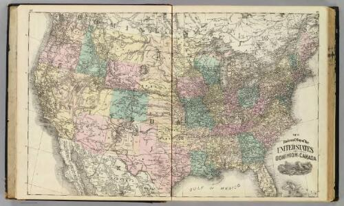 New railroad map of the United States and Cominion of Canada.