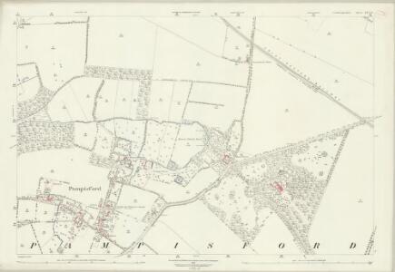 Cambridgeshire LIV.12 (includes: Babraham; Pampisford; Sawston) - 25 Inch Map