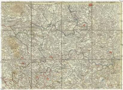 [La baße partie du cercle du Haut-Rhein, divisé en tous ses etats et souverainetes, ou sont le landgraviat de Hesse, les Abbayes de Fulde, et d' Hirschfeld, avec les seigneuries de Wetteravie] et une partie de Westerwald