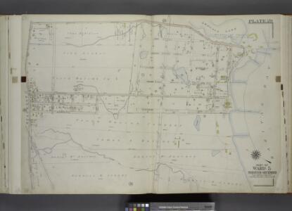 Part of Ward 5. [Map bound by Arbutus Ave (Broadway), Arbutus Lake, 5th St, Raritan Bay, Sycamore Ave, Androvette Ave, Amboy Road]