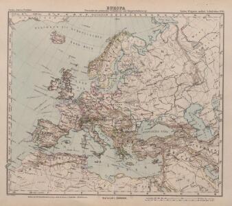 Europa Übersicht der politischen Verhältnisse und Hauptverkehrswege