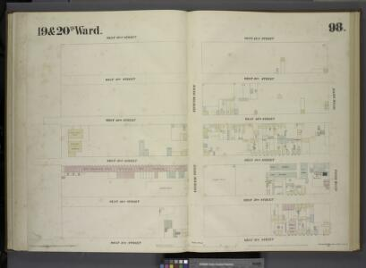 [Plate 98: Map bounded by West 42nd Street, Tenth Avenue, West 37th Street, Eleventh Avenue.]
