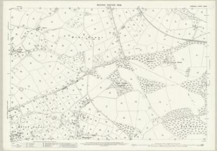 Cornwall LXIX.8 (includes: Crowan; Gwinear Gwithian) - 25 Inch Map