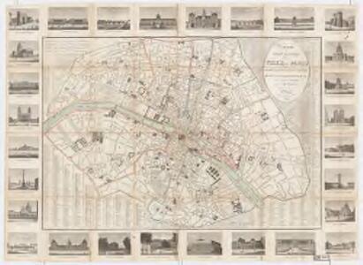 Nouveau plan routier de la ville de Paris, ou, guide exacte de cette capital divisée en XII arrondissemens avec leurs maires, et en 48 quartiers / par A. L