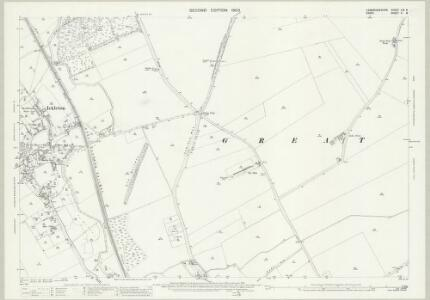 Cambridgeshire LIX.8 (includes: Great Chesterford; Hinxton; Ickleton) - 25 Inch Map