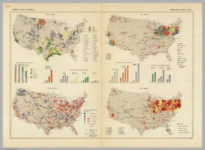 United States of America.  Pergamon World Atlas.