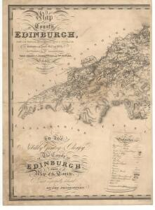 Map of the county of Edinburgh.