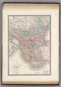 Turquie d'Europe, Grece, Roumanie, Servie, Montenegro.