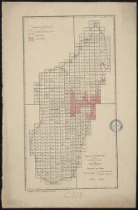 Tableau d'assemblage de la carte au 1/100 000 de Madagascar