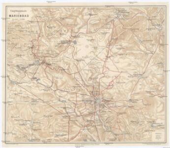 Umgebungskarte von Marienbad