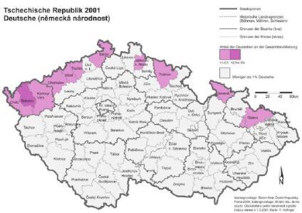 Tschechische Republik 2001. Deutsche (německá národnost)