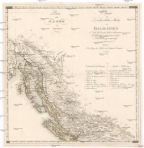 Charte des nordwestlichen Theiles von Dalmatien