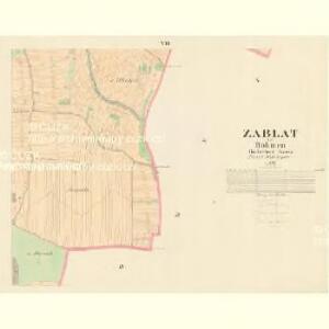 Zablat - c9004-1-006 - Kaiserpflichtexemplar der Landkarten des stabilen Katasters