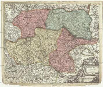 Archiducatus Austriae inferioris in omnes suas quadrantes ditiones divisi