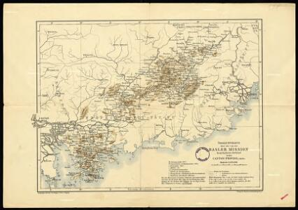 General overview of the area worked by the Basel Mission in Canton province, China