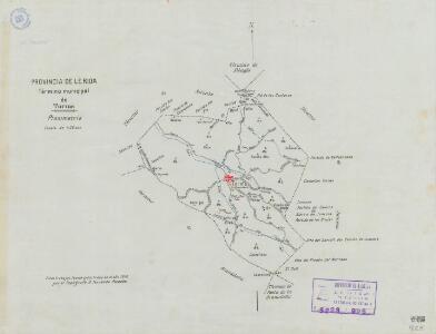 Mapa planimètric dels Torms