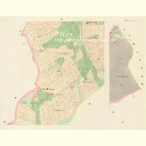 Hluboken (Hluboky) - c1888-1-002 - Kaiserpflichtexemplar der Landkarten des stabilen Katasters