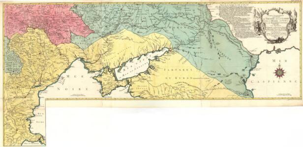 Carte Geographique representant le Théatre de la Guerre entre les Russes les Turcs, et les Polonois Confédérés