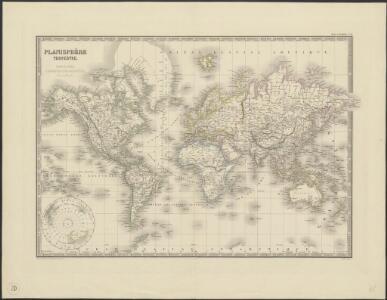 Planisphère terrestre