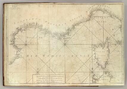 Carte De La Mer Mediterranee.  III.