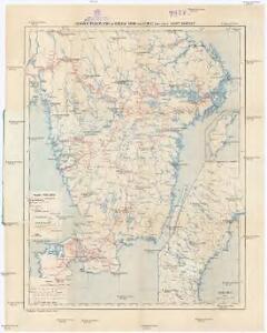 Jernvägs, Diligens, Post och Telegraf Karta öfver Sverige
