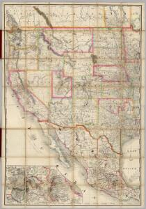 Composite: (U.S. West) Railroad Map of the United States.
