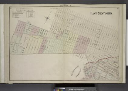 Brooklyn, Double Page Section 9; East New York; [Map  bounded by Eldert Lane, Liberty Ave., Bennett Ave., New Lots Road, Duryea Ave.,  Centre Ave., Stmarks Ave., Saratoga Ave., Cooper PL., Mc. Dougal St.; Including  Hopkinson Ave., Rockaway Ave., Gran