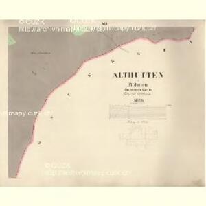 Althütten - c7262-1-011 - Kaiserpflichtexemplar der Landkarten des stabilen Katasters