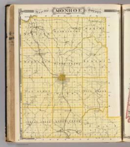 Map of Monroe County.