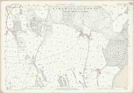 Lancashire XVI.15 (includes: Aldingham; Birkrig Common; Urswick) - 25 Inch Map