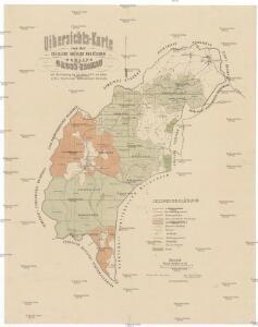 Uibersichts-Karte von der Excellenz gräflich Thun'schen Domaine Gross-Zdikau