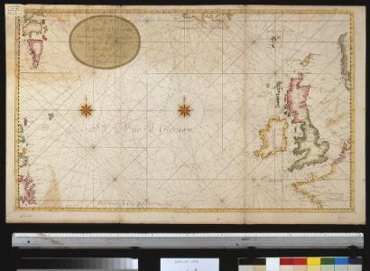 Afteekening van de Noord Occiaan strekkende van Tessel agter Irlant om tot aen de Bancq van Terra Neuf seer dienstig voor de Westindise schipvaert