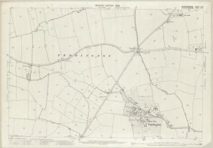 Worcestershire LV.12 (includes: Ashchurch; Beckford; Oxenton; Teddington) - 25 Inch Map