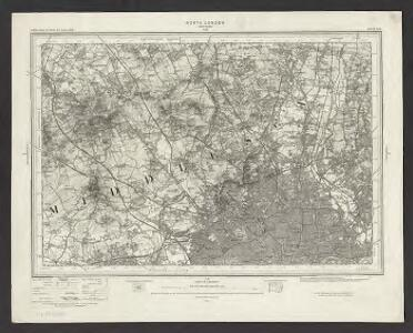 Ordnance Survey of England. Sheet 256, North London