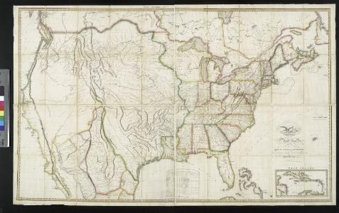 Map of the United States: with the contiguous British & Spanish possessions / compiled from the latest & best authorities by John Melish; engraved by J. Vallance & H.S. Tanner.
