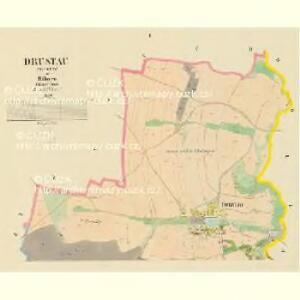 Drustau (Drustow) - c1549-1-001 - Kaiserpflichtexemplar der Landkarten des stabilen Katasters