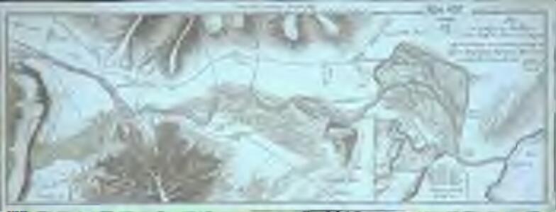 Plan des Ausflusses des Wallensees und des Laufs der Linth bis in den Zürich See