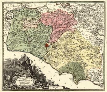 Gli Stati del Sommo Pontefice chiamati il Patrimonio di Sro. Pietro con insieme il Latio Vecchio et Campagna di Sabina Carta Geografica