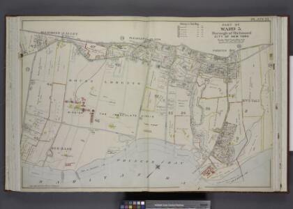Part of Ward 5. [Map bound by The Staten Island       Railway Co., Amboy Road, Holton St, Henry St, Seguine Ave, William St, Melville  St, Wilbur St, Algernon St, Beach St, Pier & Bulkhead Line, Beach Ave]