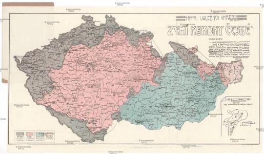 Mapa volebních okresů zemí Koruny české